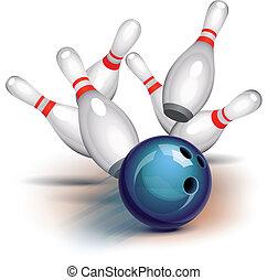 jeu, (front, view), bowling