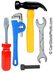 jouet, outils, isolé