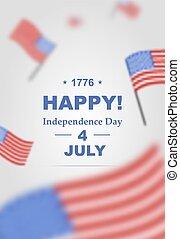 jour indépendance, july., affiche, 4ème