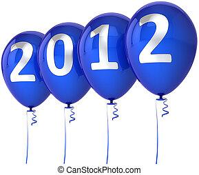joyeux, année, nouveau, 2012, noël, heureux