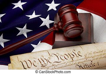 justice, américain, nature morte