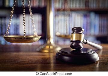 justice, livres, marteau, droit & loi, balances