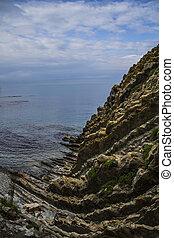 kiseleva, côte, mer noire, escarpé, falaise