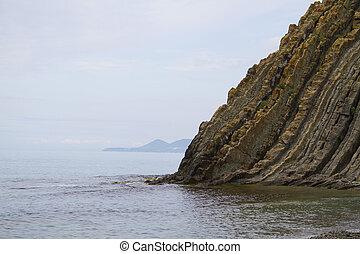 kiseleva, côte, mer noire, rocher, paysage