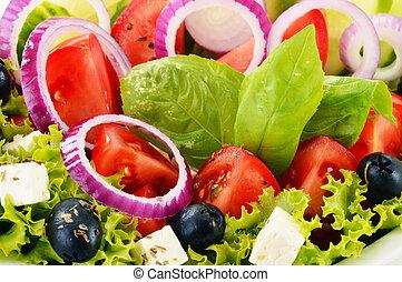 légume, équilibré, bowl., salade, régime