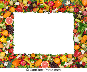 légume, cadre, fruit