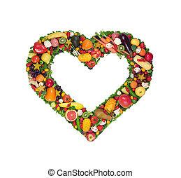 légume, coeur, fruit