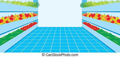 légume, supermarket., nombre
