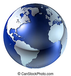 la terre, structure, 3d