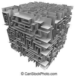 labyrinthe, cube