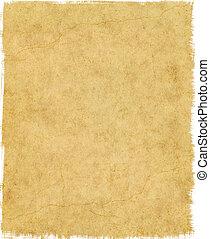 lambeaux, papier, bord