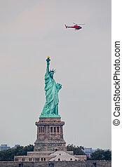 liberté, statue, new york, île