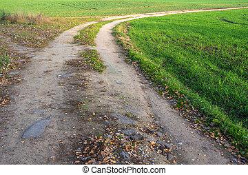 ligne, rural, road.