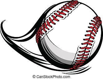 lignes, illustration, mouvement, vecteur, base-ball, softball, ou, mouvement