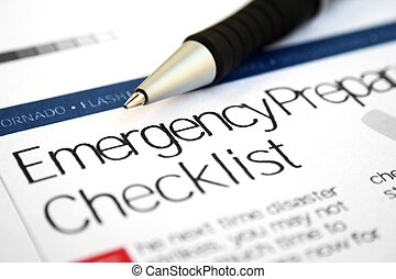 liste contrôle, urgence