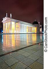 lituanie, europe., vilnius, night., cathédrale