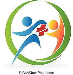 logo, collaboration, services médicaux