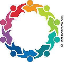 logo, image, personne, coéquipiers, 10
