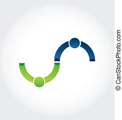 logo, poignée main, amitié, business