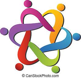 logo, portion, équipe