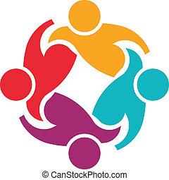 logo, soutien, collaboration, 4, image