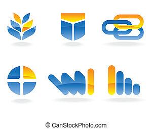 logo, vecteur, éléments