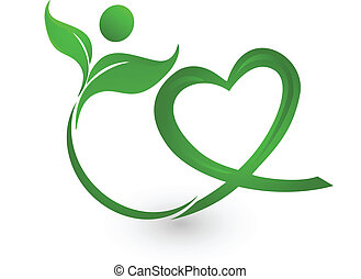 logo, vert, illustration, nature