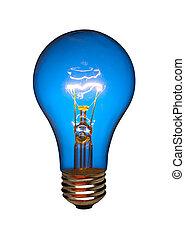 lumière bleue, isolé, ampoule