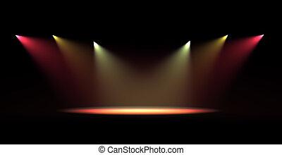 lumière, tache, scène