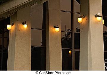 lumières, soir