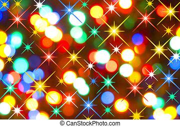 lumières, vacances