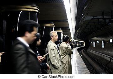 métro, gens