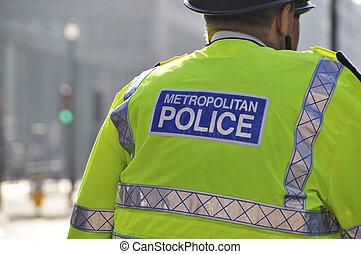 métropolitain, police, londres