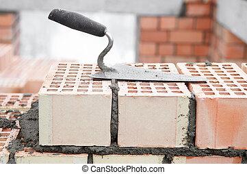 maçon, équipement, construction