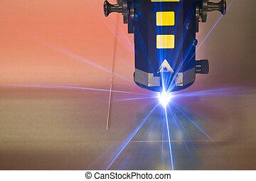 machine, laser, découpage, technologie
