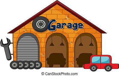 magasin, garage