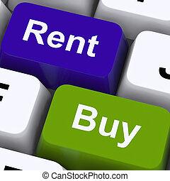 maison, loyer, projection, clés, achat, maison