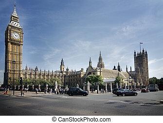 maison, parlement, ben, grand