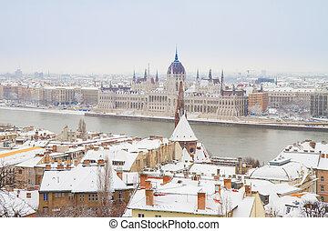 maison, parlement, hongrie, budapest