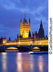 maison, parlement, londres