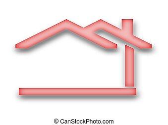 maison, toit pignon