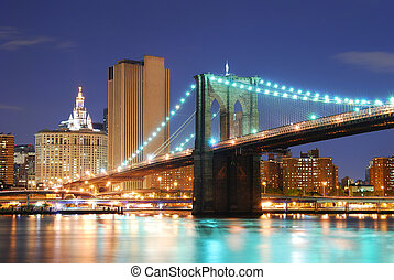manhattan lient, ville, york, nouveau, brooklyn