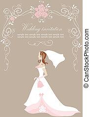 mariée, invitation mariage