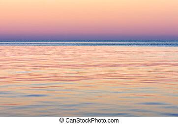 mer, soir