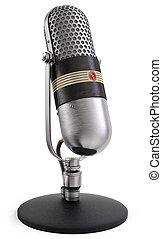 microphone, radio, parler