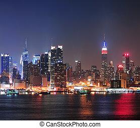 midtown manhattan, horizon, ville, york, nouveau