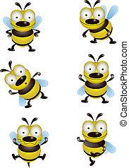 mignon, collection, abeille