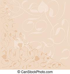 modèle fleur, cadre, vecteur, fond, bannière