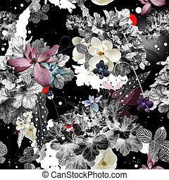 modèle floral, conception abstraite, seamless