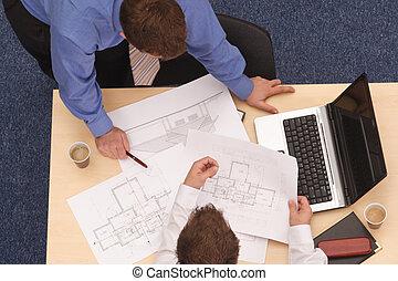 modèles, deux, architectes, réexaminer